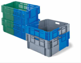 Bi color stack nest plastic containers aim reusable for Are lean cuisine boxes recyclable
