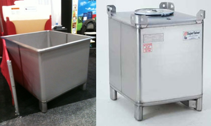 Aluminum Tubing Sizes >> Stainless Steel Container & Stainless Steel Vat - AIM Reusable Packaging