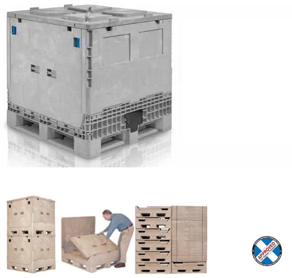 plastic intermediate bulk container ibc aim reusable